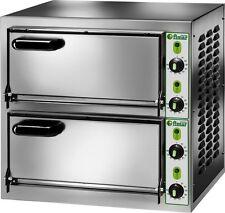 FORNO ELETTRICO PIZZA 2 CAMERE CM 40X40 MF 230 V Professionale 4400 Watt pizze