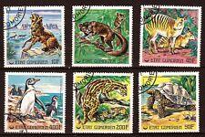 LES COMORES serie 6T.oblitérés scott 240 à 245 Espèces animales en danger PR196