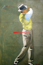 "24x36"" (61x92cm)100% hand painted oil flat,Sports, Golf"