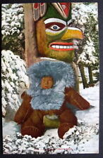 ESKIMO TEDDY BEAR* Baby boy by totem POLE *  MITCHELL