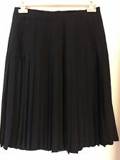 Vintage Karl Lagerfeld, France Women's 100% Fine Silk Pleated Skirt Size M 44