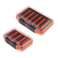 2Pcs Double-Sided Lure Spoon Hook Bait Fly Fishing Storage Box Tackle Case