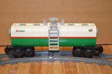 "NEW Lego Train Custom White/Green Octan Car 9"" inches long RC/9V"