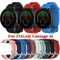 Silicone Watch Band Wristbands Bracelet 22mm Strap For Polar Vantage M
