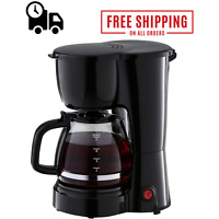 5 Cup Coffee Maker Black Machine Removable Filter Basket Premium Compact Brews