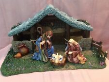 """Thomas Kinkade """"Star Of Hope"""" CrÈChe /Nativity Collection - Mint Cond. With Coa"""