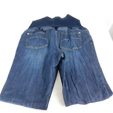 Liz Lange Maternity Dark Wash Blue Jeans Belly Band Size 16 Inseam 30.5""