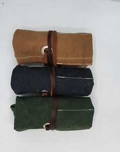 Canvas Travel Pocket Watch Roll,Canvas Storage Watch Roll,Gift for Him, Tool Rol