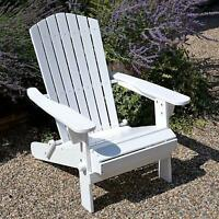 Plant Theatre Adirondack Folding Hardwood Chair - Painted White