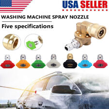 7 x Power Washer Spray Nozzle Tips Pressure Washer Accessories Kit 1/4'' NPT US