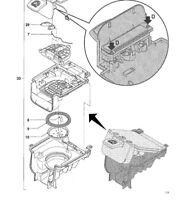 Ressort SENSEO QUADRANTE( pièce 7 sur le schéma ) pour HD7860-7862-7863-7864