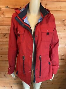 Jack Murphy Red Hooded Jacket Horse Print Lined Size 10