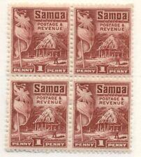 SAMOA #143 Mint Never Hinged, Block of 4, Scott $52.00