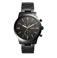 Fossil Watch FS5379 Townsman Black and Rose Gold Stainless Steel Watch RRP $299