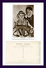 CINEMA SHIRLEY TEMPLE & GUY KIBBEE AT THE HELM  CAPTAIN JANUARY 1936 REAL PHOTO