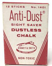 VTG Unused Yellow Chalk Binney Smith Sight Saver Dustless 1401 Crayola Anti-Dust