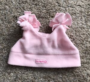 THE CHILDRENS PLACE Baby Girls Size 6-12 Months Pink Fleece Pom Pom Cap Hat