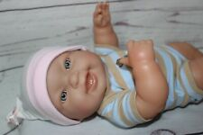 "Baby Doll Berenguer 13"" vinyl body blue eyes - used - reborn"