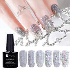 7.5ml Silver Holographic Soak Off UV Gel Nail Polish Sequins Sparkle UR SUGAR