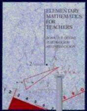 Elementary Mathematics for Teachers Devine, Donald F. Paperback Book VeryGood