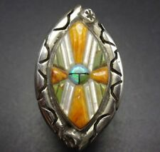 DAVID FREELAND Sterling Silver CORNROW INLAY SunFace RING sz 9.25, New Old Stock