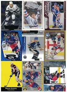 NHL Player Tradingcard Lot – Wayne Gretzky – Rangers/Oilers/Kings - 11 Cards