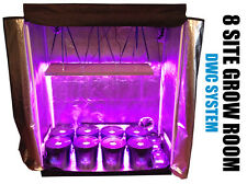 8 Site Hydroponic System Grow Room - Complete Grow Kit - Grow Tent - LED Grow