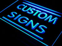 Custom led sign, fully personalized lighted sign with your logo image text