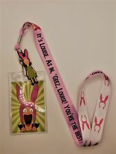 Bob's Burgers Lanyard ID Card Holder Louise Belcher Geez Louise Limited Edition