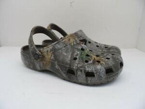 Crocs Men's Classic Realtree Edge Clog Sandal Walnut Camo Size 9M