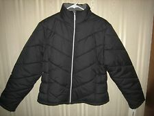 women's KC collections winter jacket L black NWT