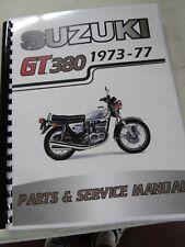 Suzuki GT380  parts& service combo  manual   1973-1977
