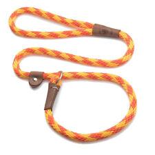Mendota - Dog Puppy Leash - British Style Slip Lead - Amber - 4, 6 Foot
