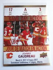 2017-18 Johnny Gaudreau Tim Hortons Game Day Action Hockey Card - #GDA-3