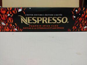 Nespresso Vertuoline Pumpkin Spice Cake Limited Edition Sold out 10 pods