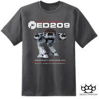 Mens ED209 Robocop OCP T Shirt Omni Consumer Products Movie Weyland Corp Retro