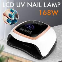 168W Nail Polish Dryer Pro Timer UV LED Lamp Acrylic Gel Curing Light   Q
