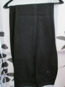 "Mens Next Black Trousers 32"" A / 81cm Evening formal band wool blend trews"