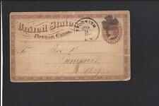 """BROOKLYN, NEW YORK, 1874,GOVERNMENT POSTAL CARD, ADVT. """"THE BOARDING DIRECTORY""""."""