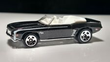 Hot Wheels 1969 Camaro Convertible - Black 5sp - White Interior Clear Window
