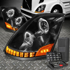 FOR 04-18 VOLVO VN VNL SEQUENTIAL SIGNAL PROJECTOR HEADLIGHTS+TOOL SET BLACK