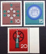 BRD 1964 3 Marken Technik und Wissenschaft, postfrisch Mi 440-442