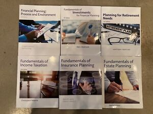 American College CFP exam prep review books, Set of 7 books - 2019/2020