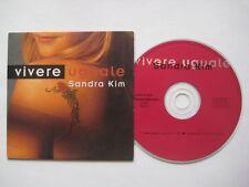 SANDRA KIM Vivere Uguale 2-track CDS Card sleeve