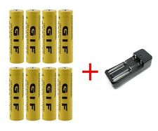8 x 3.7V 12000mAh 18650 Li-ion Rechargeable Battery + Charger for LED Flashlight