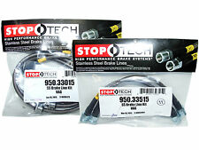 Stoptech Stainless Steel Braided Brake Lines (Front & Rear Set / 33015+33515)