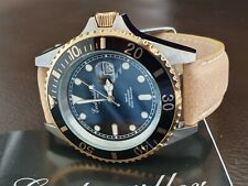 DIVE WATCH SUBMARINER 42mm  BY GERMAN BRAND Eichmuller gold plated bezel