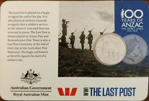 ⭐ 2015 20c Coin 100 Years of ANZAC WWI: THE LAST POST ⭐