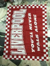 1 BANDIERA LIVERPOOL YOU'LL NEVER WALK ALONE 140x100 CM FLAG POLIESTERE 100%