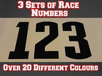 "3 Sets Race Numbers 4"" 100mm Motocross Custom Vinyl Stickers Decals MX Bike N32"